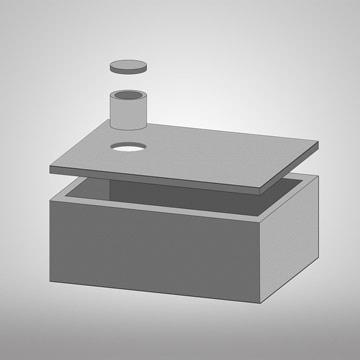 3D jednokomorové betonové jímky