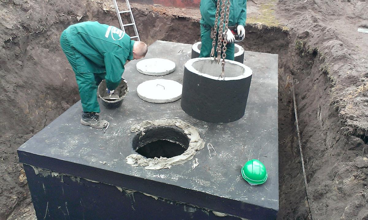 Montáž dvoukomorového septiku