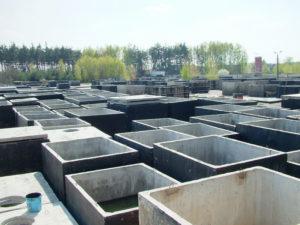 Skladování a výroba betonových nádrží